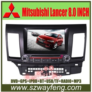 """Best deal Mitsubishi Lancer DVD GPS with Radio, Canbus, 8"""" HD digital screen, Bluetooth, iPOD, TV, USB/SD+Free 4G Card"""