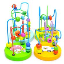 New Arrival Children Kids Baby Colorful Wooden Mini Around Beads Educational Toys for children(China (Mainland))