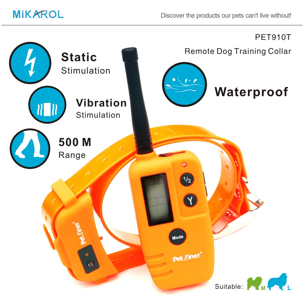 9 LV Vibrate and Shock Electronic Dog Waterproof Collar Pet Trainer Remote Shock Dog Agility Product E-collar Dog(China (Mainland))