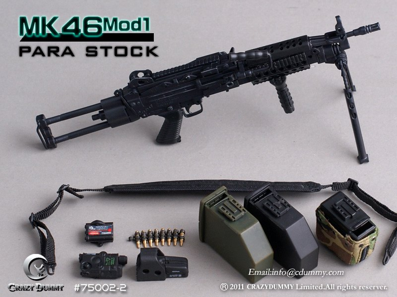 """1/6 Scale Figure Accessory CrazyDummy 75002 MK46 MOD1 Gun Weapon Model Toys For 12"""" Action Figure Doll Collections Gifts D(China (Mainland))"""