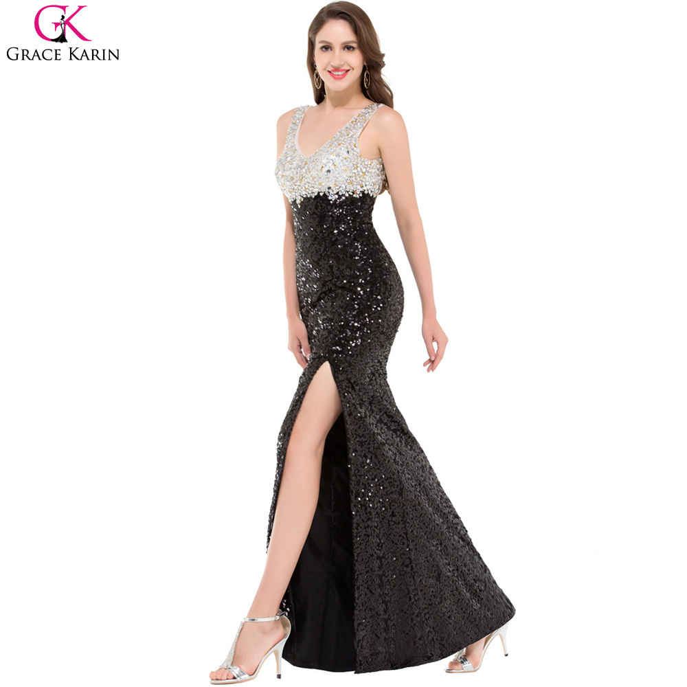 Long Sequin Evening Dress