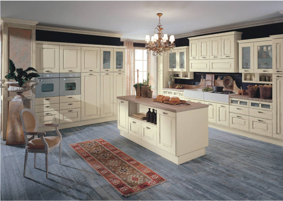 2015 prefab kitchen cupboard solid wood modular kitchen