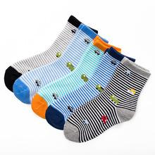 5pais/lot boys' cotton socks 2-12 years children socks(China (Mainland))