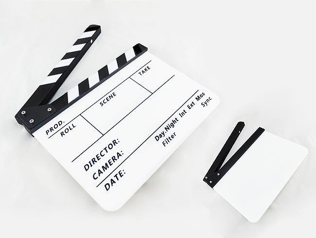 Clapperboard TV Film Movie Director Slate Black White  PAV1BEP