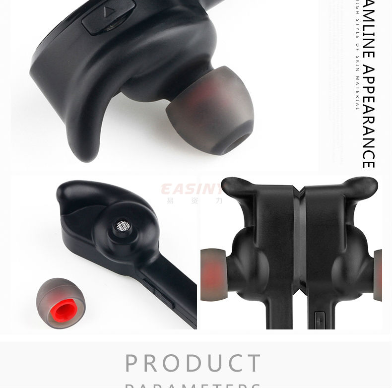 sport bluetooth headset for smartphone hifi sound quality super bass stereo w. Black Bedroom Furniture Sets. Home Design Ideas