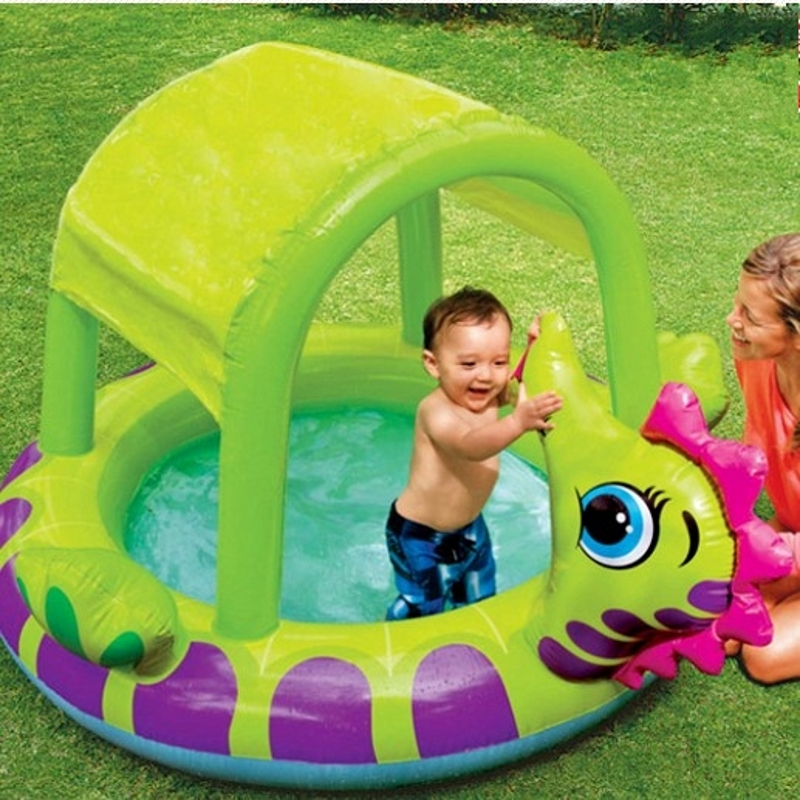 Intex inflatable swimming pool with sun shelter inflatable pool bathtub Intex 57110(China (Mainland))