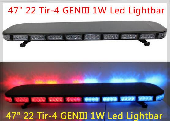 DC12V,120cm Led strobe emergency lightbar,warning lights+100W speaker+100W siren for police ambulance fire truck,warerproof