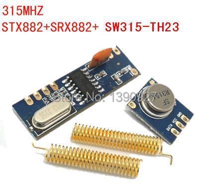 1 set of STX882+SRX882 315mhZ high power ASK Transmitter & Receive Module FCC ROHS CE(China (Mainland))