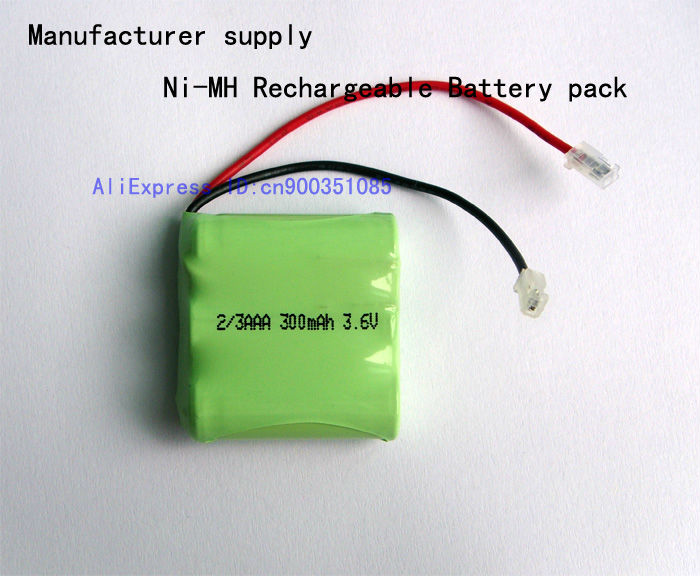 Manufacturer supply Ni-MH rechargeable battery pack 2/3AAA 300mAh 3.6V(China (Mainland))