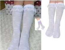 2015 Children lace stockings girls socks thin section tube socks lace stockings girls socks students Toddlers