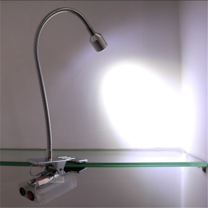 3 years warranty 3*1W recharging led spot lamp ,rechargable battery wireless display lamp,switch clamp 360 30CM  flexible tube