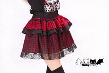 Buy Princess sweet lolita skirt PUNK wind web lace red black little cake peng skirt + pumpkin pants KD-0042 for $39.33 in AliExpress store