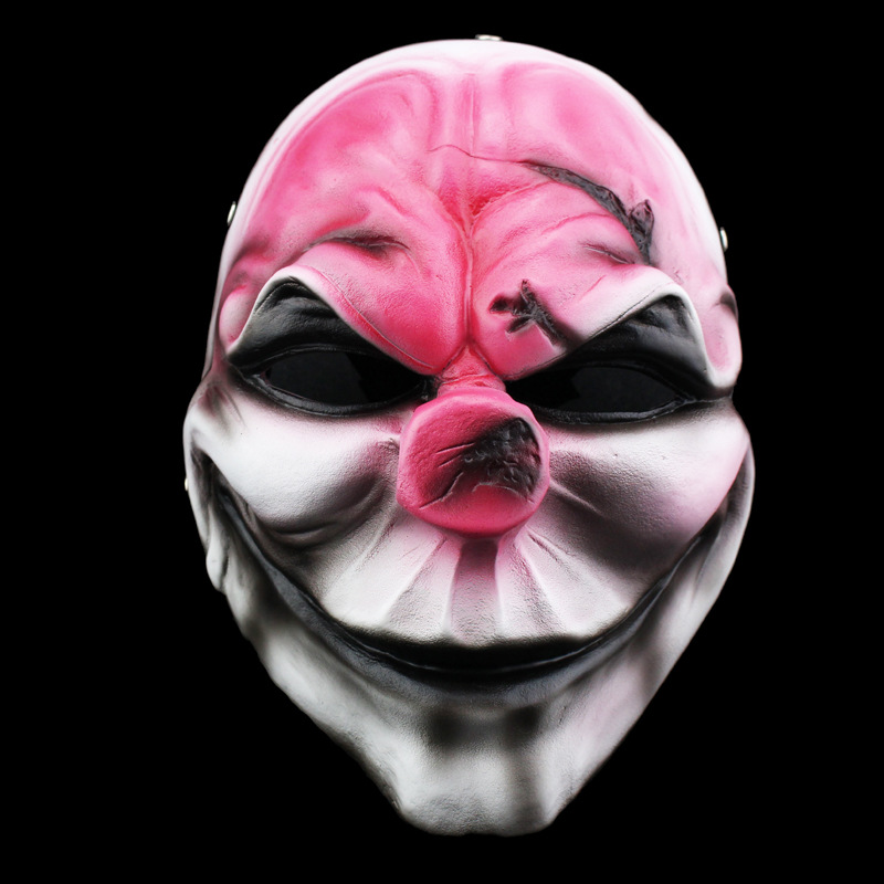 High Quality Payday Masks Hoxton Cosplay Grimace Devil Resin New Halloween Horror Masks Chainsaw Clown Payday 2 Masquerade Masks(China (Mainland))
