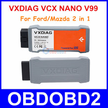 High Quality VXDIAG VCX NANO For Ford/Mazda 2 In 1 With IDS V98 V99 Multi-Languages Better Than VCM II For Ford Free Ship(China (Mainland))