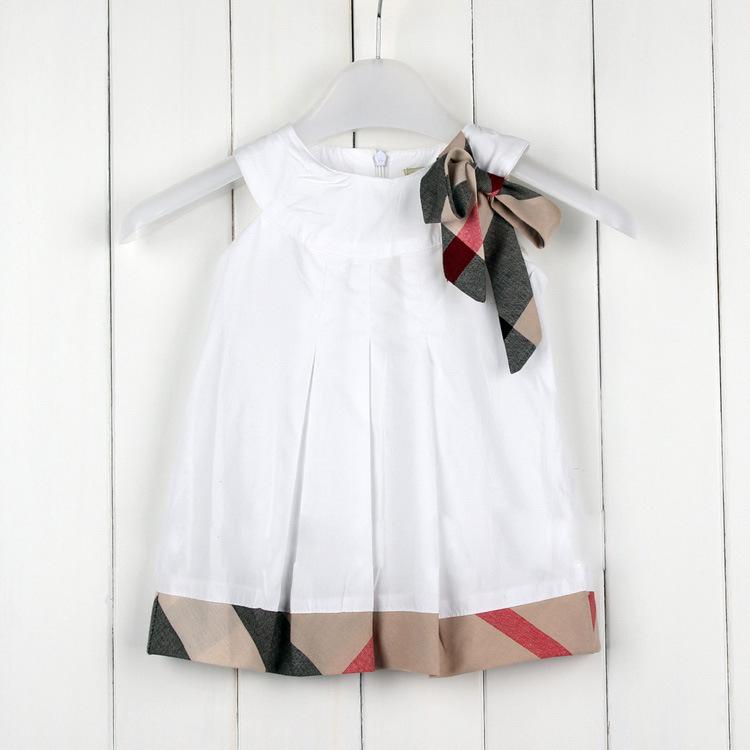 Summer girl dress top quality baby girl clothes sleeveless children clothing bow girl princess dresses fashion cute vestidos(China (Mainland))