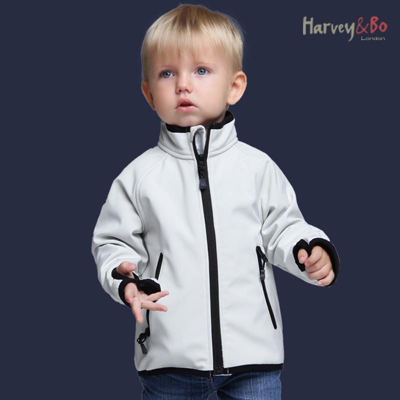 Harvey&Bo kids jackets softshell coat waterproof baby boys girls outerwear spring autumn children outdoor jacket plus velvet(China (Mainland))