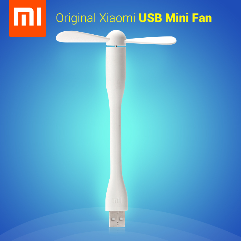 2015 Newest Original Xiaomi USB Fan, Portable mini USB Fan, Low Power USB Fan for Power Bank/Notebook/Laptop/Computer,White Blue(China (Mainland))