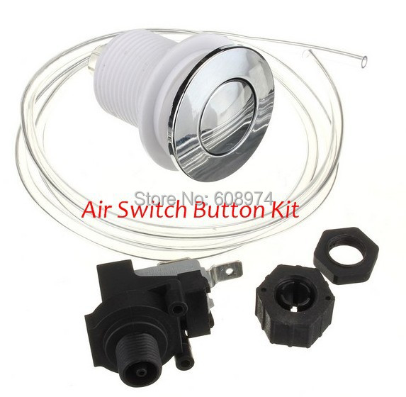 Spa & Pool, Pump food waste disposer Pneumatic Air Button Switch for bathtub, set with air button + hose + Air pressure switch(China (Mainland))