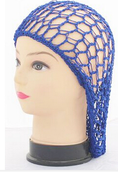 Crochet Hair On Net Cap : Soft Rayon Snood hat Hair Net Crocheted Hair Net cap JD 113-in Hair ...