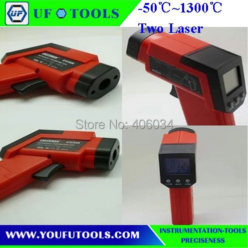 UF-8013T Hand-held Portable Digital Double laser Infrared /Mini Thermometer -50~1300 degree