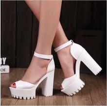 High heels women shoes platform shoes zapatos mujer women pumps lolita shoes 2015 fashion ladies shoes chaussure femme 4.5-8(China (Mainland))