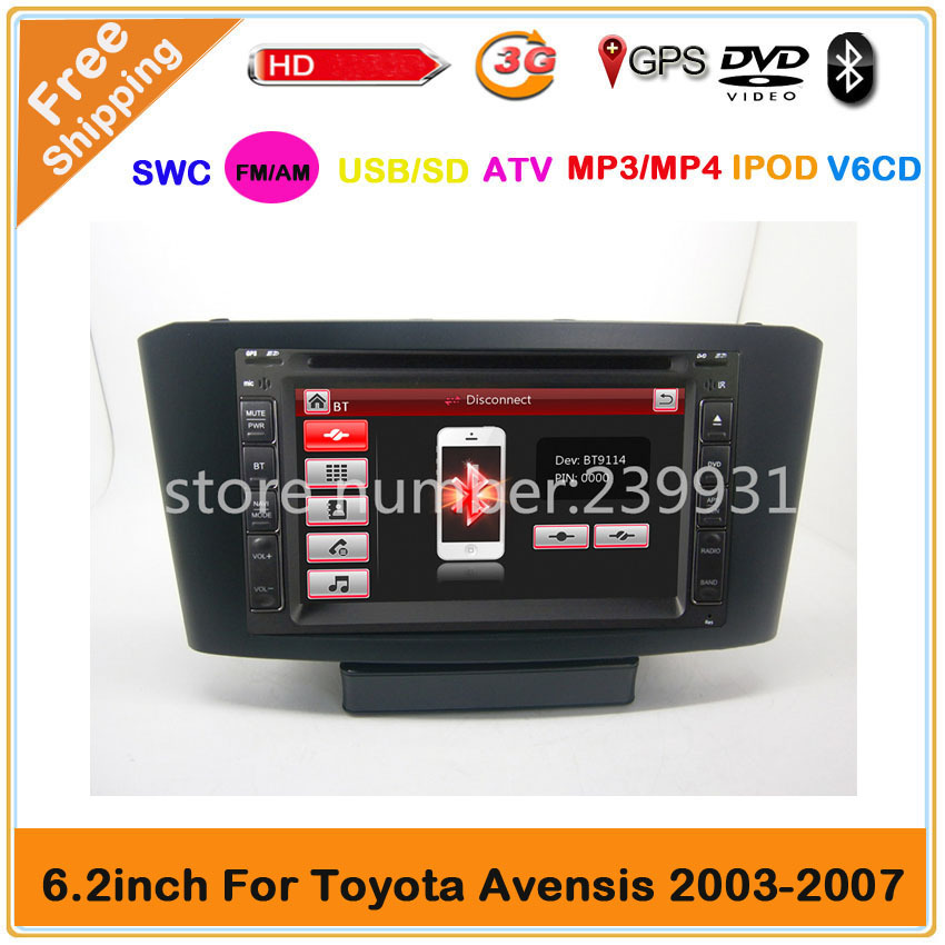 TOYOTA AVENSIS Car DVD GPS Navigation +Free Navitel Russia Map+Russia Menu!+3G USB host +Steer wheel control(China (Mainland))