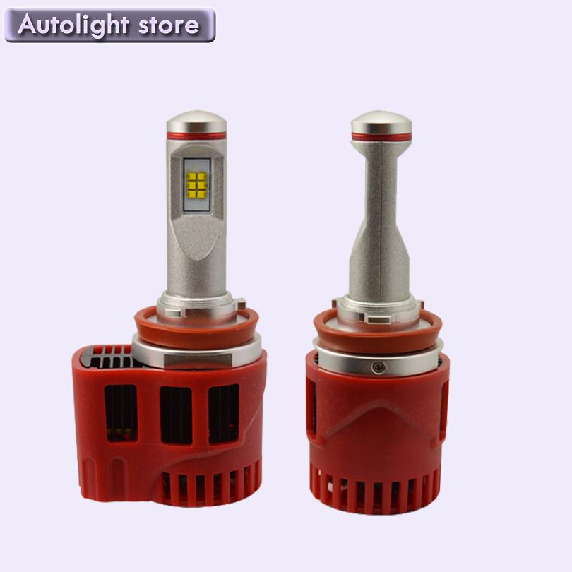 Latest new h8 led headlight H8 singal BEAM PHILIP S LED Headlights 90W 9000LM Super bright(China (Mainland))