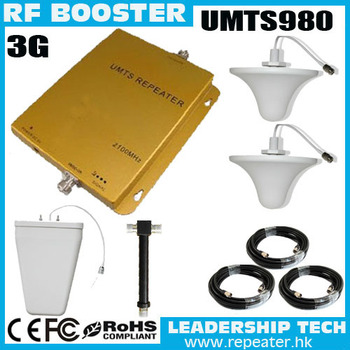 Wholesale UMTS980 2100Mhz 3G mobile phone signal repeaters UMTS 3G cell phones boosters 3G mobile phone repeater Cover 600m2
