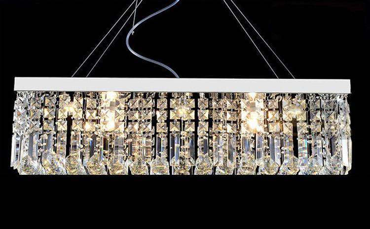 moderne contemporain rectangle rain drop lustre en cristal. Black Bedroom Furniture Sets. Home Design Ideas