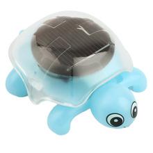 Creative Solar Powered Mini Running Tortoise for Children Toys Present (blue) Worldwide sale(China (Mainland))