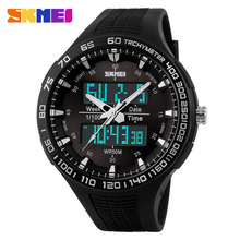 Fashion Black/Army Green SKMEI Digital Analog Quartz Waterproof Military Wrist Watches Men Boy Sports Watches W0801