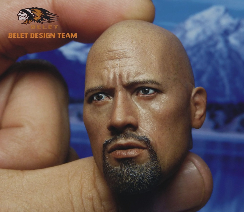 1/6 scale figure head shape for 12 Action figure doll Fast &amp; Furious Luke Hobbs Dwayne Johnson head for doll, not include body<br><br>Aliexpress