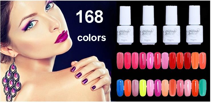 168 Colors UV Nail Gel Polish 30 Days Long Lasting Nail Gel Cheap Soak Off Gel Polish 1 PCS SA87(Hong Kong)