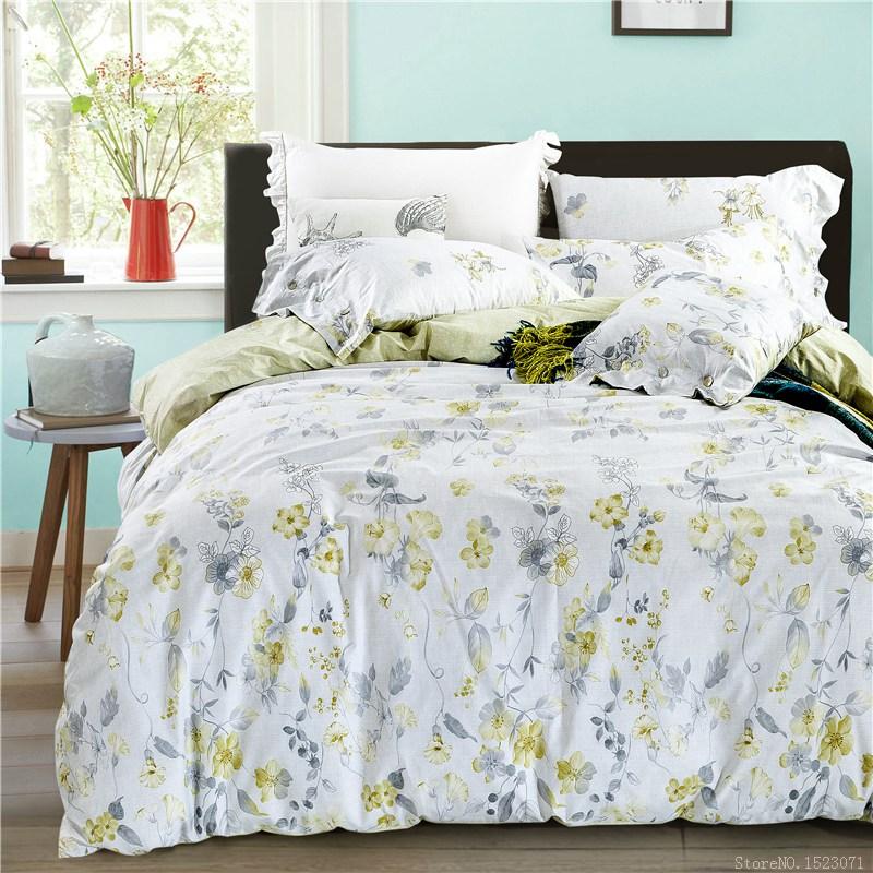 Amarillo ropa de cama floral compra lotes baratos de for Sabanas para cama queen size