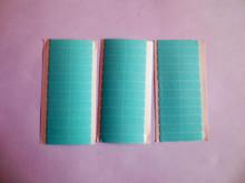 60 шт./лот 5 листов 0.8 см * 4 см наращивание волос ленты синий двойная боковая лента для расширения ленты волос(China (Mainland))