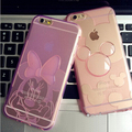 Lovely Disny Minne Big Bowtie Love Clear TPU Soft Skin Cover Cases Protector For iphone 5s