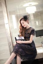 2016 New arrive black lace dress(China (Mainland))
