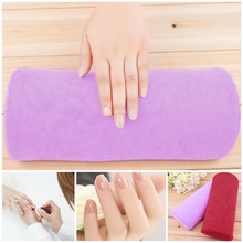 1pc Soft purple Hand Rest Cushion Pillow Nail Art Design Equipment Manicure hand pillow for manicure,equipment for nails(China (Mainland))