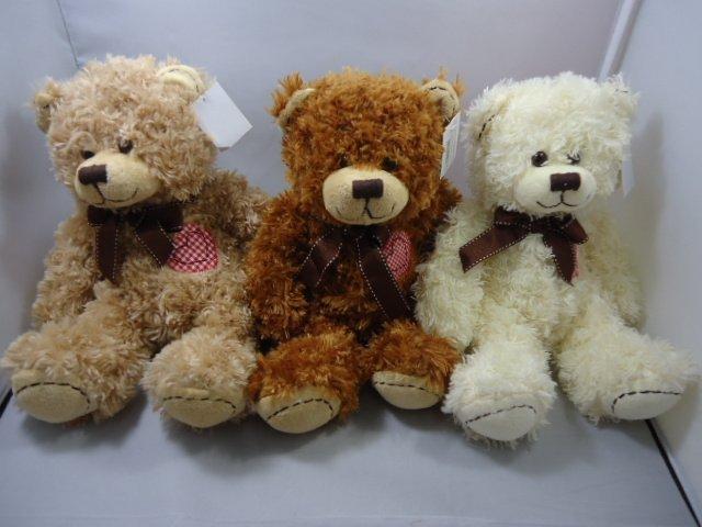 genuine love heart teddy bear plush toy into the three-color birthday gift