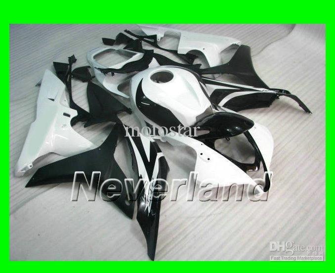 Injection molded for HONDA CBR600RR fairing kit 2007 2008 CBR 600 07 08 CBR600 white black(China (Mainland))