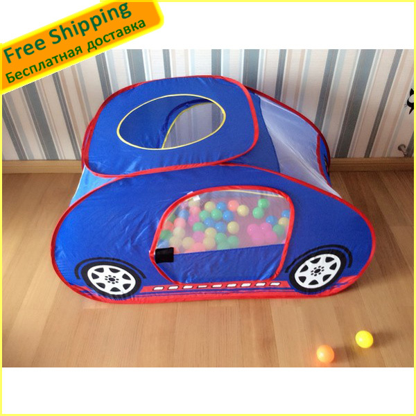 1 PCS Safety Portable Folding Car Type Toy Tent Funny Children Indoor Toys House Novetly Gift For Baby/Kids Size (136*77*73CM )(China (Mainland))