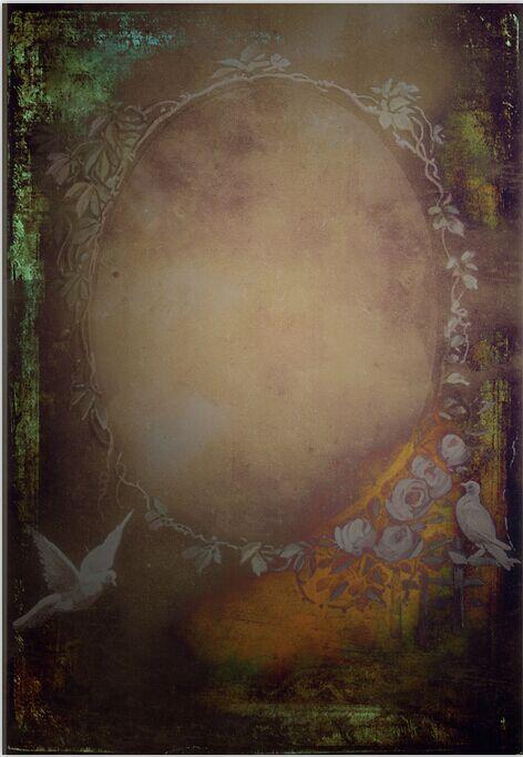 2 W x3 H m Top Quality Baby Wedding Portrait Photography Backdrop Cheap Vintage Flower Border Mirror Vinyl Background 6.5x10ft