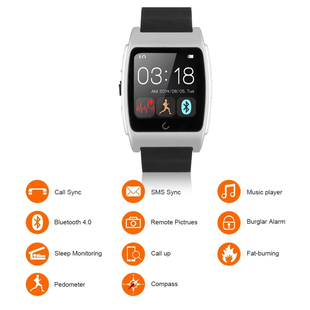 2015 Brand New & Super-quality Bluetooth Smart Sport Watch With Multi Functions & Languages Perfect For Android / For IOS(China (Mainland))