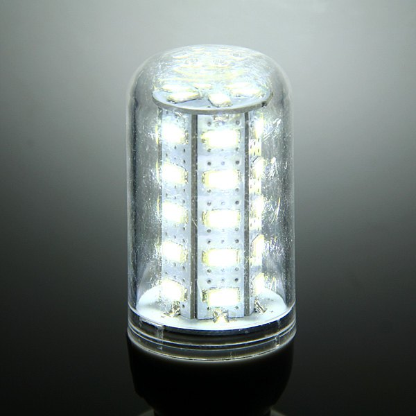 Commercial Lighting 15W E27 SMD 5630 48-LEDs 1350LM Transparent White Light 5500-7000K LED Corn Bulb (AC 220V) With High Lumen(China (Mainland))