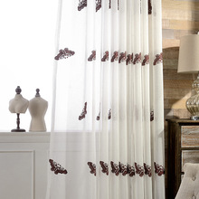 Butterfly tulle curtains fresh Chinese style factory outlets wholesale new embroidered screens living room window(China (Mainland))