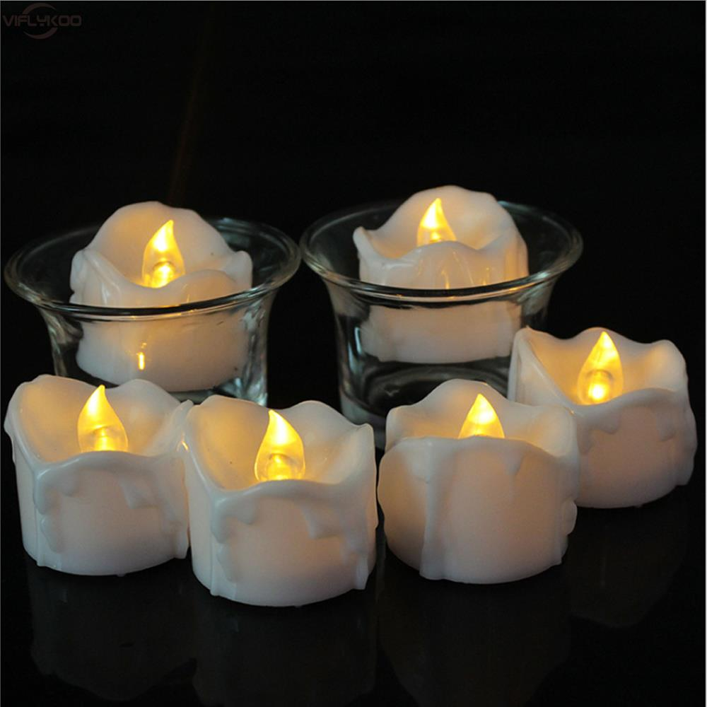 12pcs Candles Flicker Battery LED Candles Plastic Electric Candles Tea Lights Birthday Wedding Christmas Decorations For Home(China (Mainland))