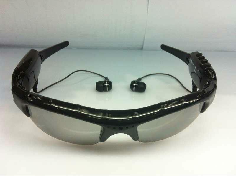 FREESHIPPING-Mini DV DVR sunglasses with camera mp3 player Camera Audio Video Recorder 1Pcs/Lot(China (Mainland))