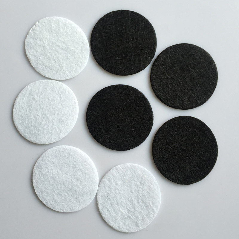 4*4CM Circles Round Felt Flower patch black colors iron-on sew patches garment accessories - Xuben trading co., ltd Store store
