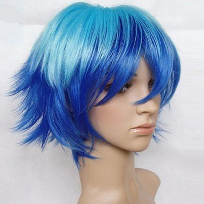 Top Quality 2 Colors Short Cosplay Wig Synthetic Hair Cosplays Cartoon Wigs Full Wig Freeshipping(China (Mainland))