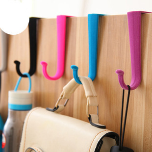 2 Pcs Coat Bag Hooks Wrap Fashion Colorful Wall Hanger S-Type Door Flocking Back Door Hanger 2015 New Hot Sale Special Offer(China (Mainland))